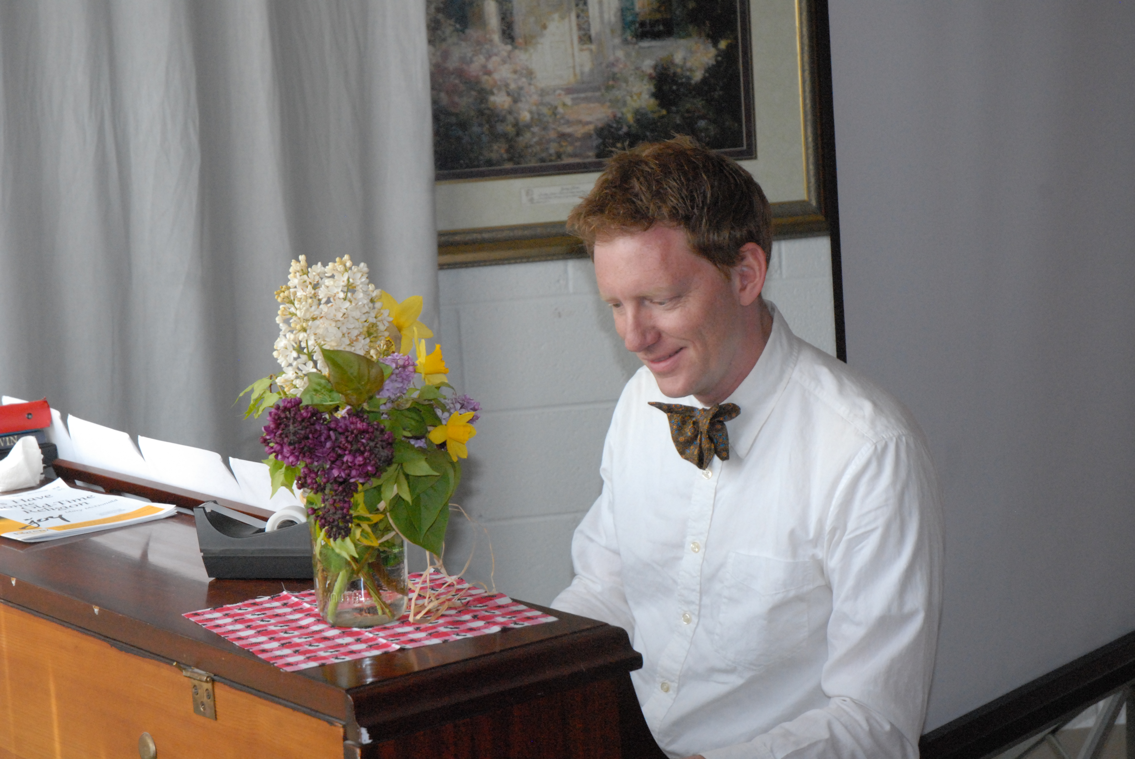 Pianist at Tent Revival