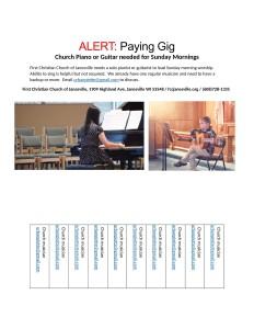 Ad for FCC Jvl Musician